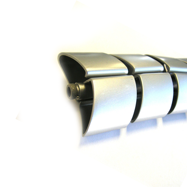 Kabelschlauch Silber Halb-oval