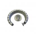 Kabelschlauch Silber 8-förmig - kabelmanagement
