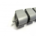 Kabelschlauch Silber Oval - kabelmanagement