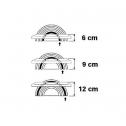 Twin Active Fußstütze Schwarz - fußablage