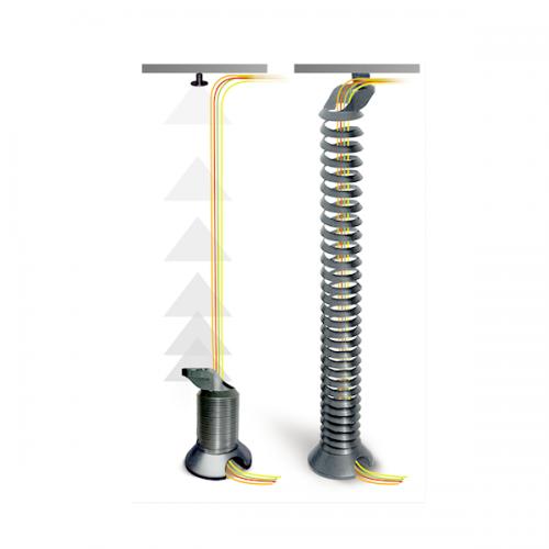 Kabelspirale Silber - kabelmanagement