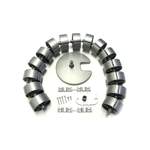 Kabelschlauch Silber Rund - kabelmanagement