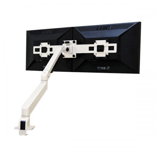 Devia Monitorarm Double Weiß 9-21 kg - monitorhalterung