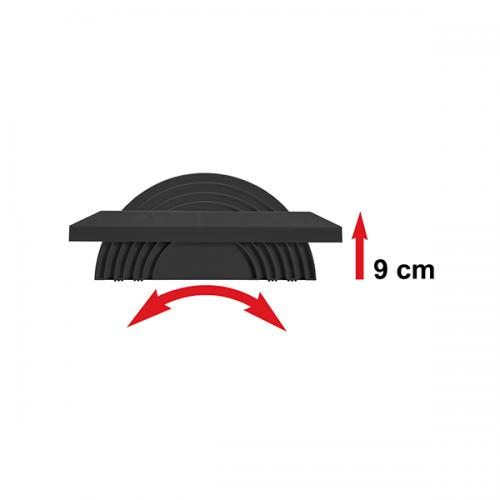 Twin Active Fußstütze Schwarz